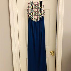 Navy blue Caramela Crossback Art dress